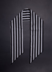Headwrap / Neckerchief in Dark Halloween Stripe