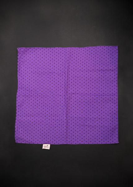 Bandana in Purple & Black Polka Dot
