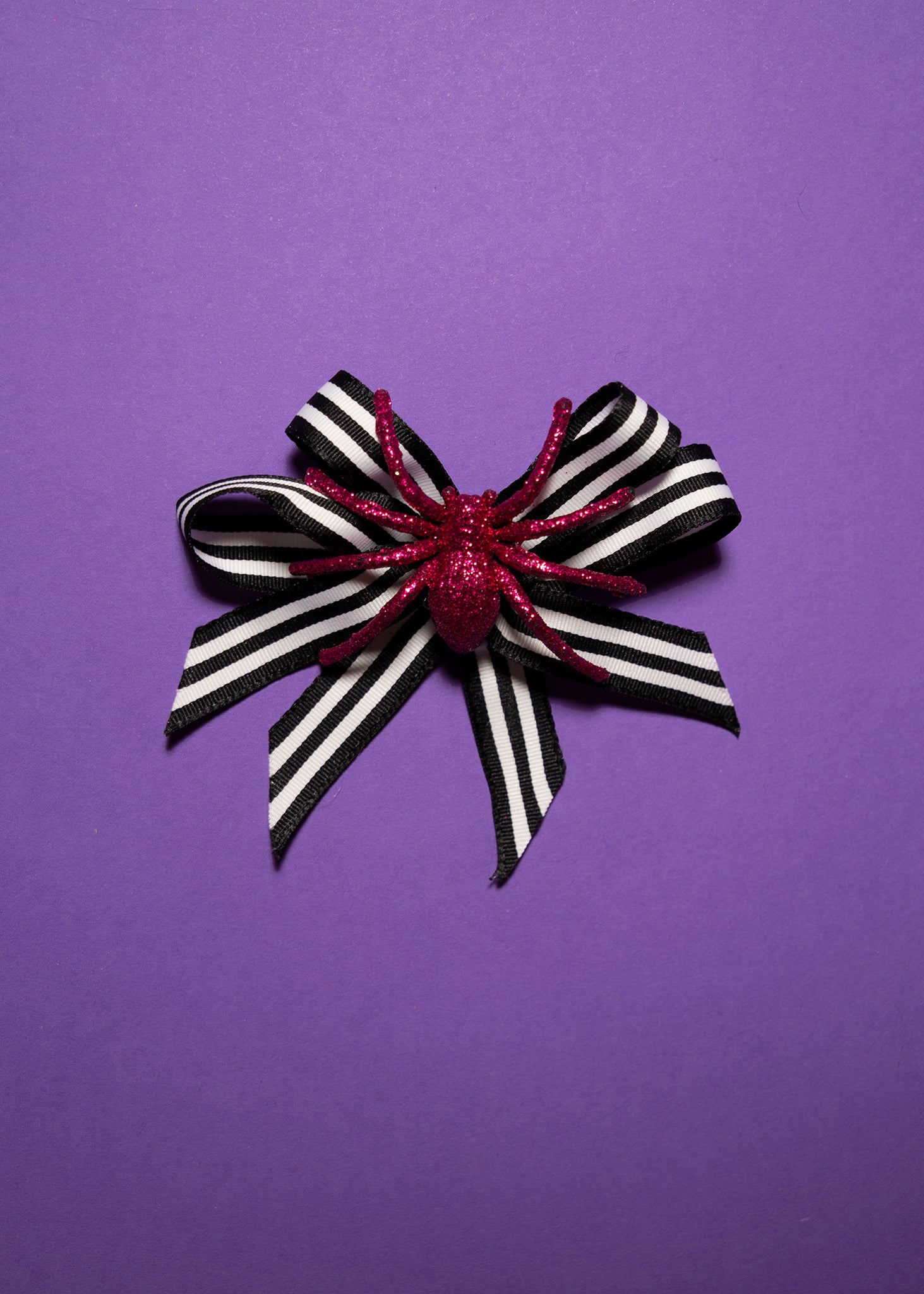 Hair Bow - Spider Pink