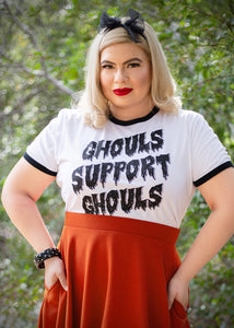 Ghouls Support Ghouls Unisex Ringer T-Shirt