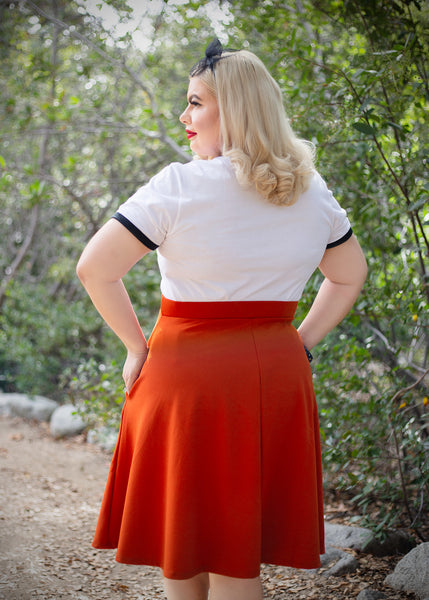 Candy Circle Skirt in Rust Orange