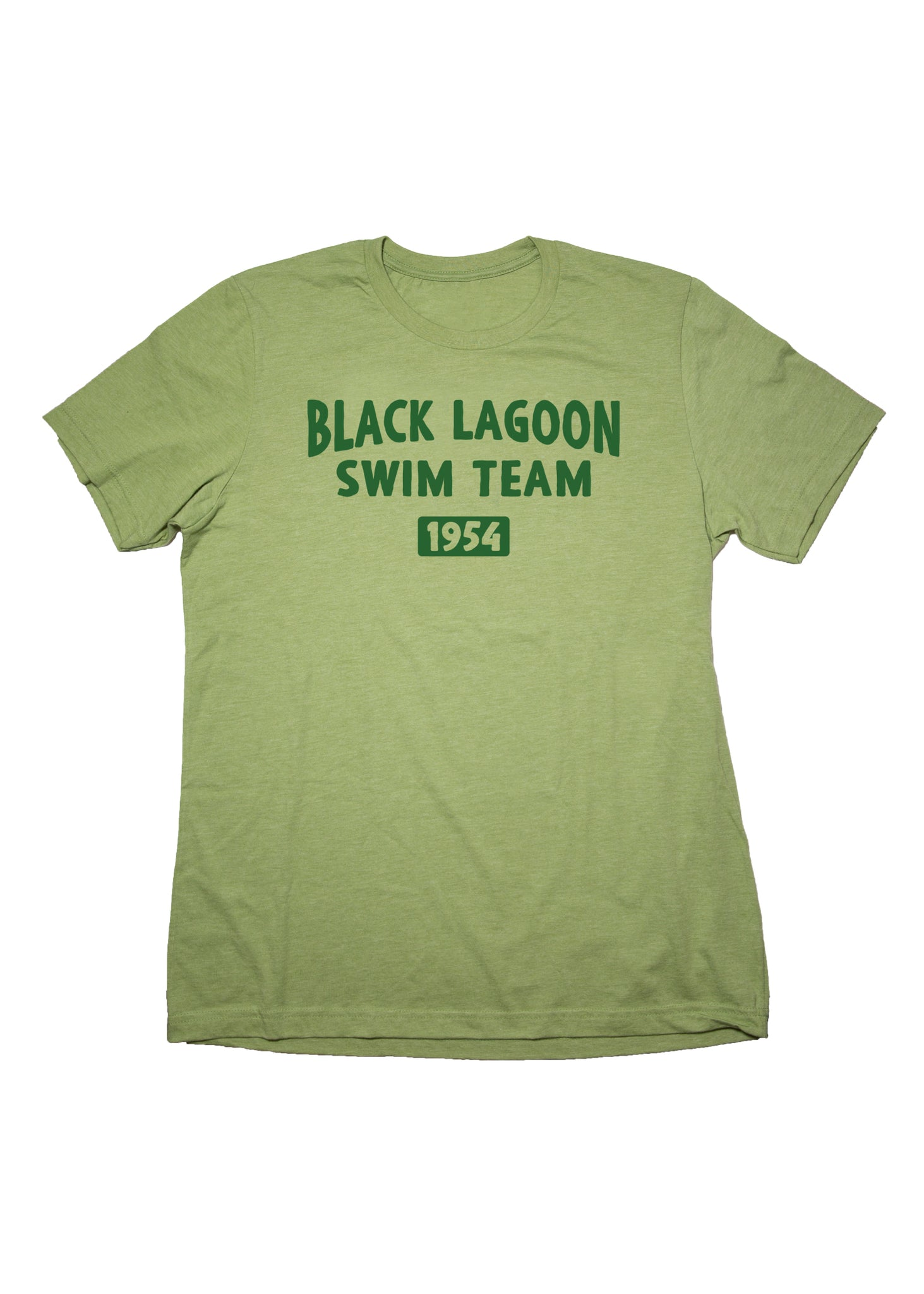 *LIMITED* Black Lagoon Swim Team Unisex Adult T-Shirt in Heather Green