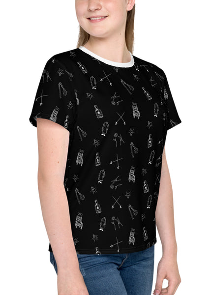 "Youth ""Spooky Family"" All-Over Print T-Shirt"