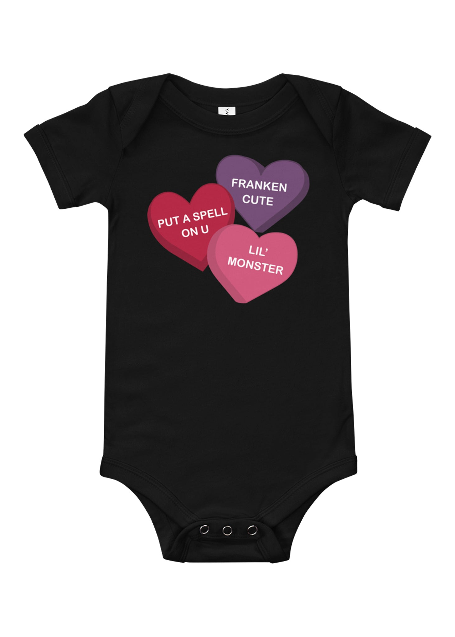 Infant Spooky Conversation Hearts One Piece