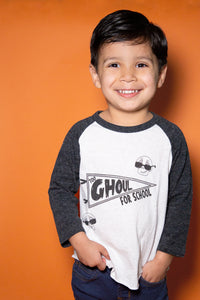 Toddler Ghoul School Raglan Baseball T-Shirt