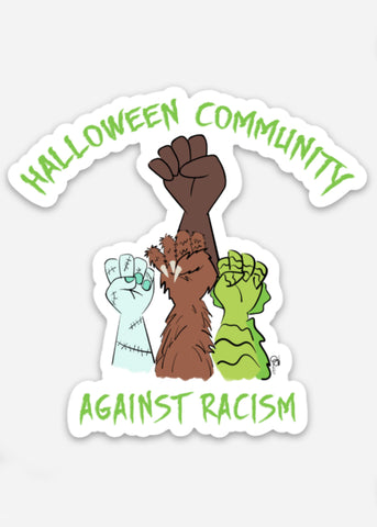 Against Racism BLM Sticker