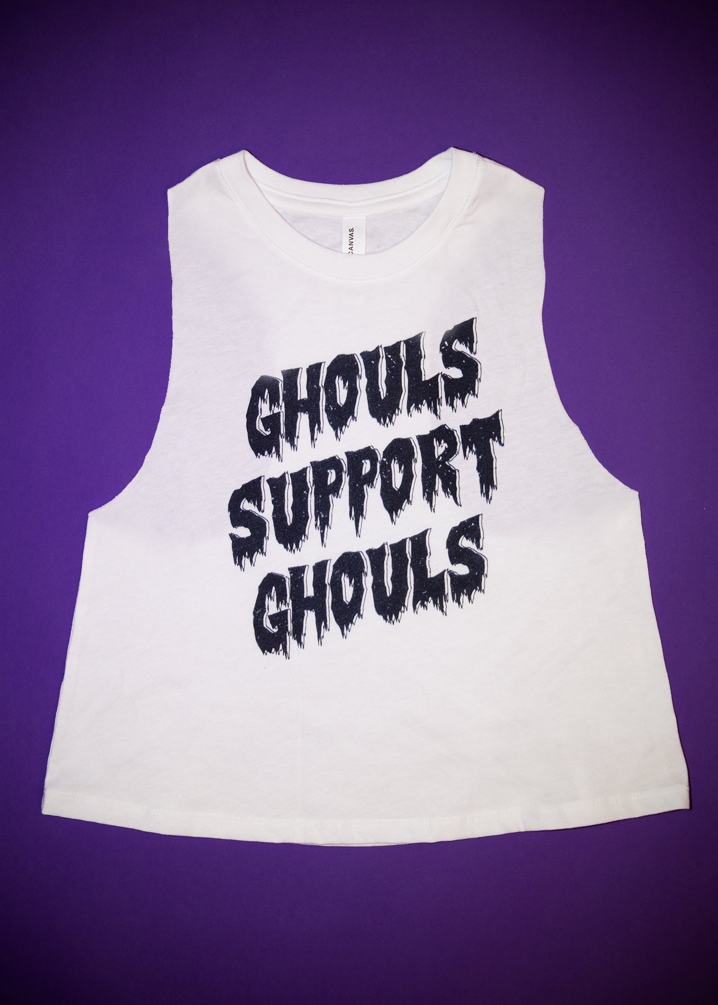 Ghouls Support Ghouls Ladies Crop Tank