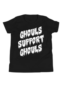 Youth Ghouls Support Ghouls T-Shirt in Black