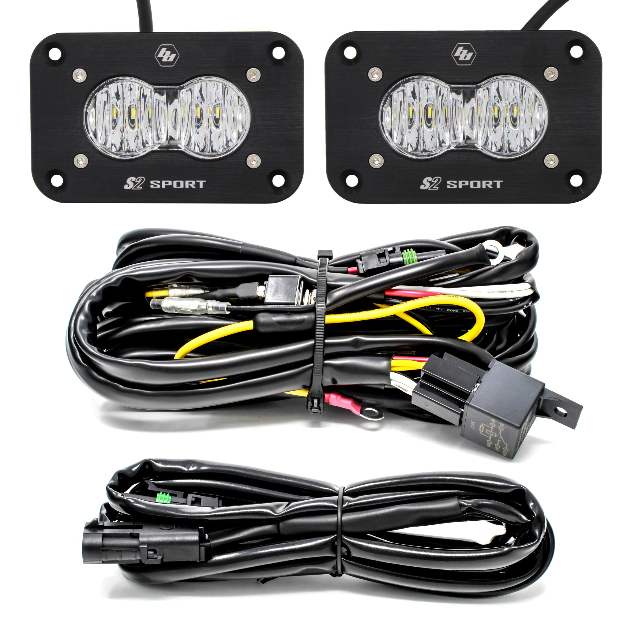 Baja Designs S2 Sport - Pair, LED Wide Cornering, Flush Mount, Backup Kit - Colorado & Canyon Enthusiasts