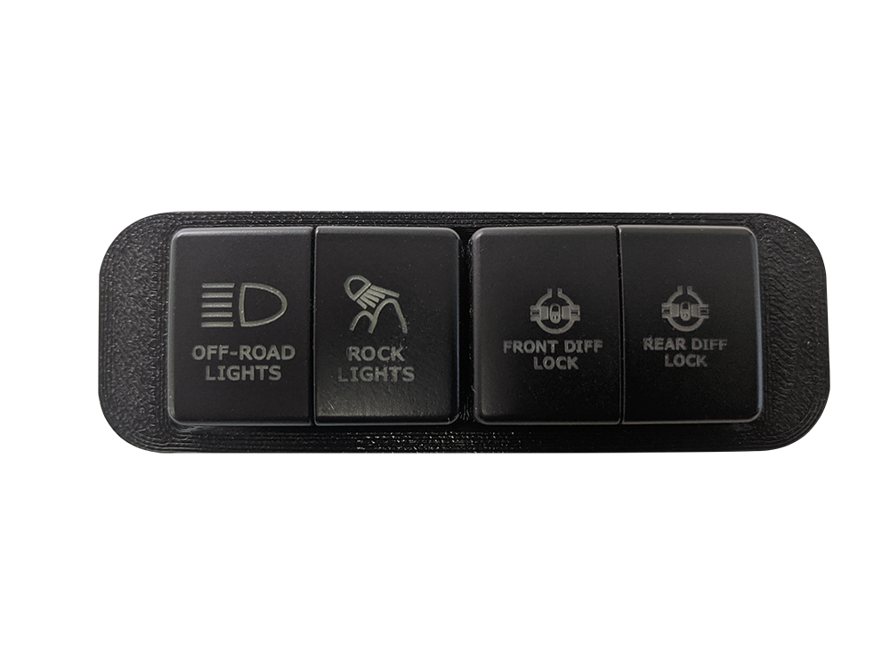 S-TECH 4 Push Button Switch System - Colorado & Canyon Enthusiasts
