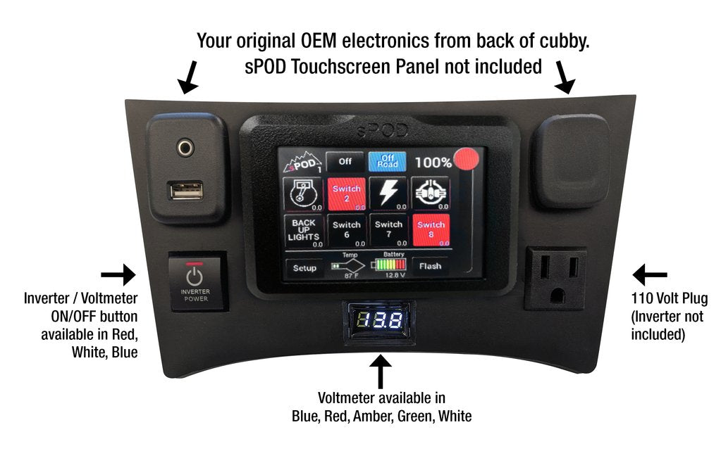 Full Face plate For Lower Cubby Fits sPod Touchscreen