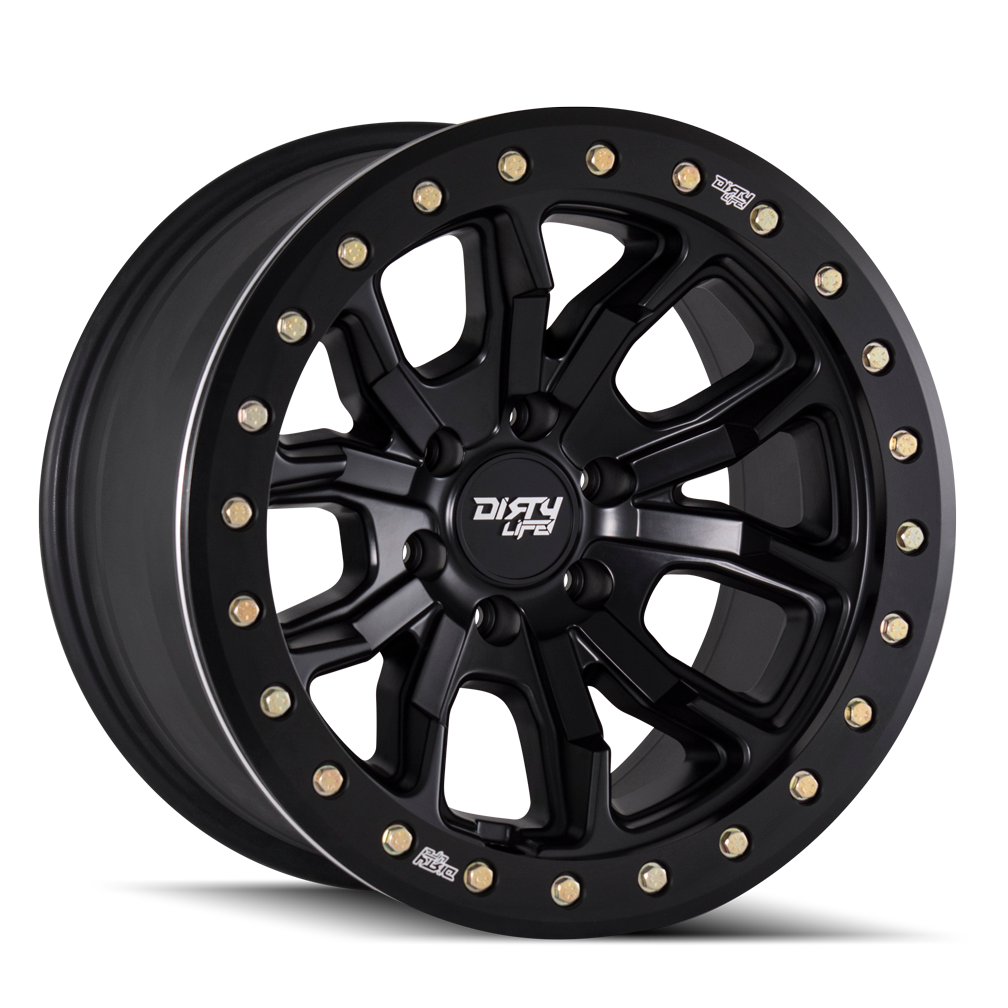 Dirty Life Wheels 9303 DT-1 | Matte Black | 6x120 | -12mm | 17x9 - Colorado & Canyon Enthusiasts
