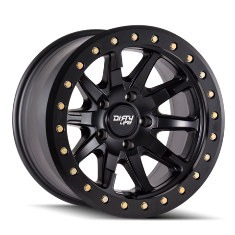 Dirty Life Wheels 9304 DT-2 | Matte Black | 6x120 | -12mm | 17x9 - Colorado & Canyon Enthusiasts