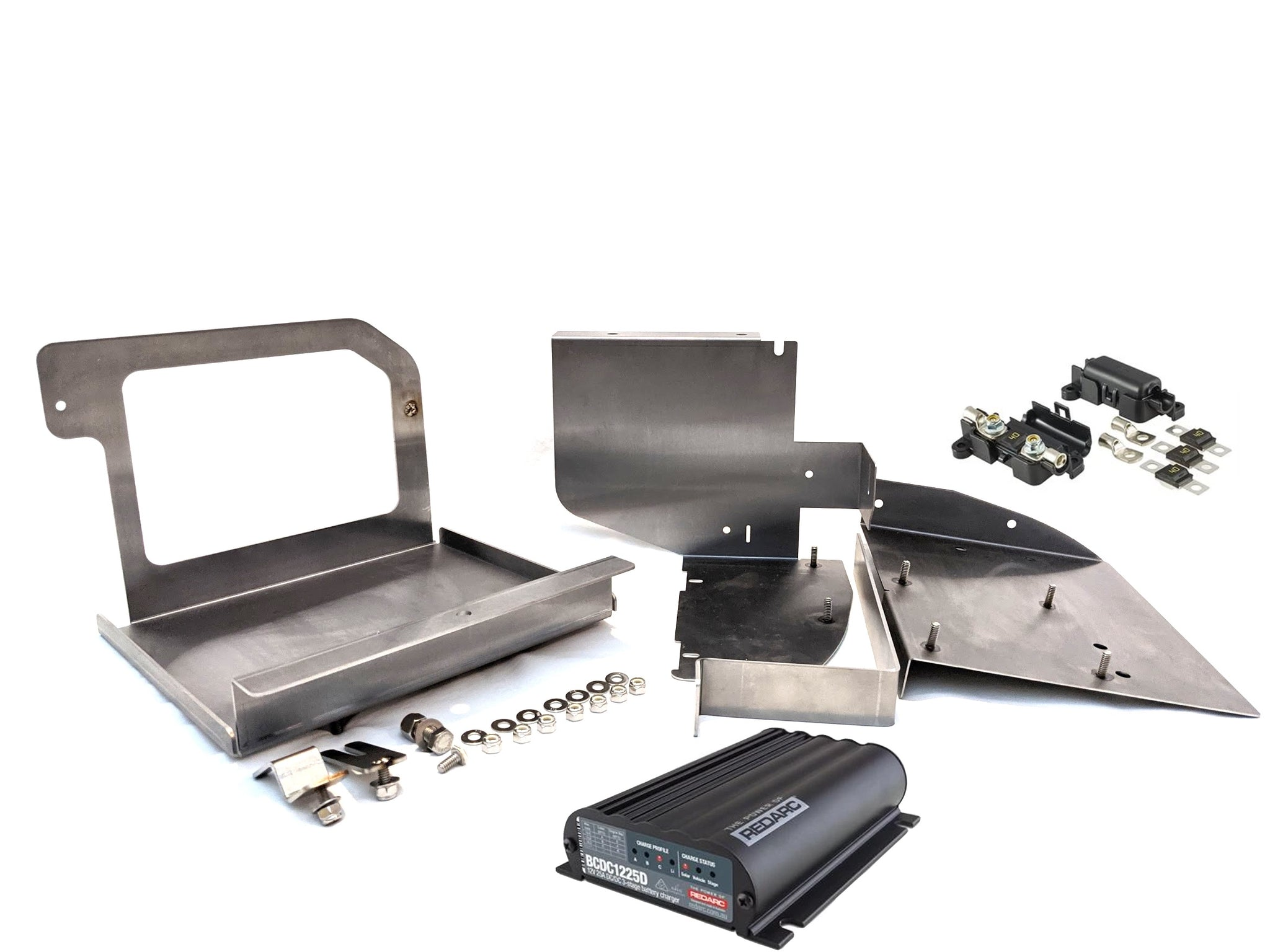 CCE Dual Battery Tray with Redarc  Charger and Wire Harness