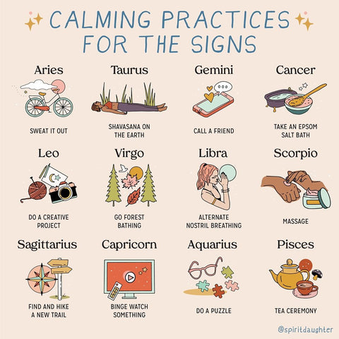 Calming practices for the signs