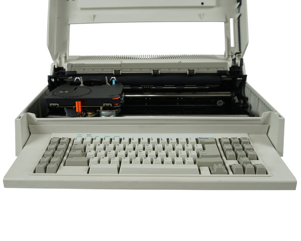 IBM Wheelwriter 30 typewriter front view with open cover