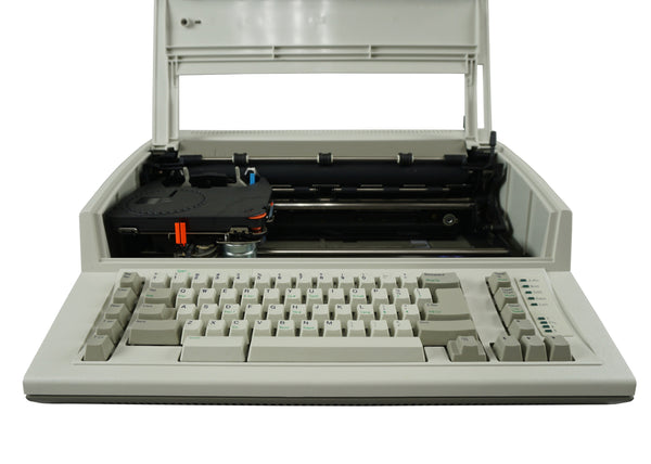 IBM Personal Wheelwriter 1 Typewriter Front View with Top Cover Open