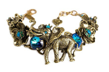 "Load image into Gallery viewer, The ""Royals"" Elephant Statement Bracelet"