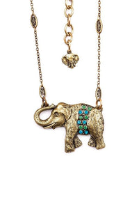 "The ""Royals"" Elephant Pendant Necklace"