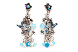 "The ""Under the Sea"" Right and Left Mermaid Statement Earrings"