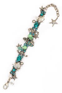 "The ""Under the Sea"" Mermaid with Semi-Precious Stone Tail Bracelet"