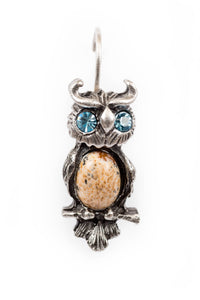 "The ""Foxy Mamma"" Owl on Eurowire Earrings"