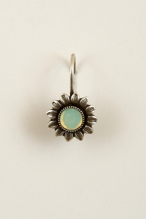 Handmade Sunflower Earrings in Silver