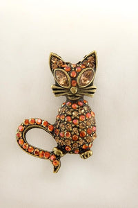 Pewter Cat Pin