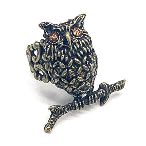 Owl statement ring