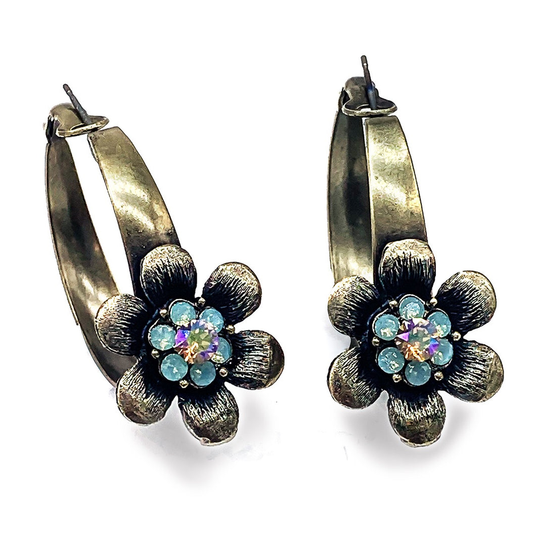 Hoop Flower Power Earrings