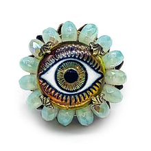 Load image into Gallery viewer, Evil eye ring Rg-19