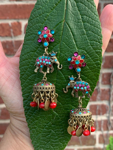 Elephant statement earrings