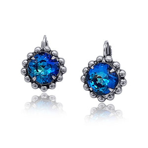 Swarovski Crystal Earrings ER-9204 -Bermuda Blue