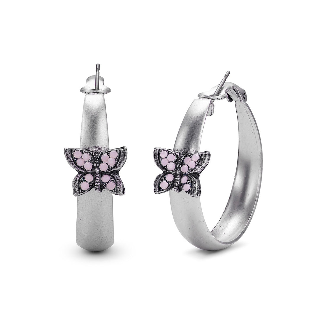 Hooplah Butterfly Earrings