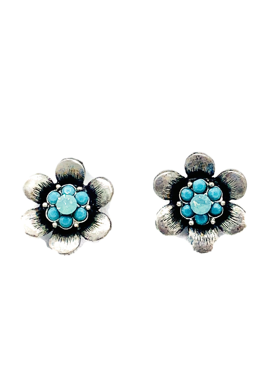 Flower Power post earrings