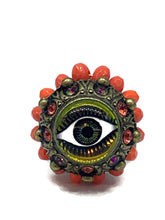 Load image into Gallery viewer, Evil eye ring Rg-2