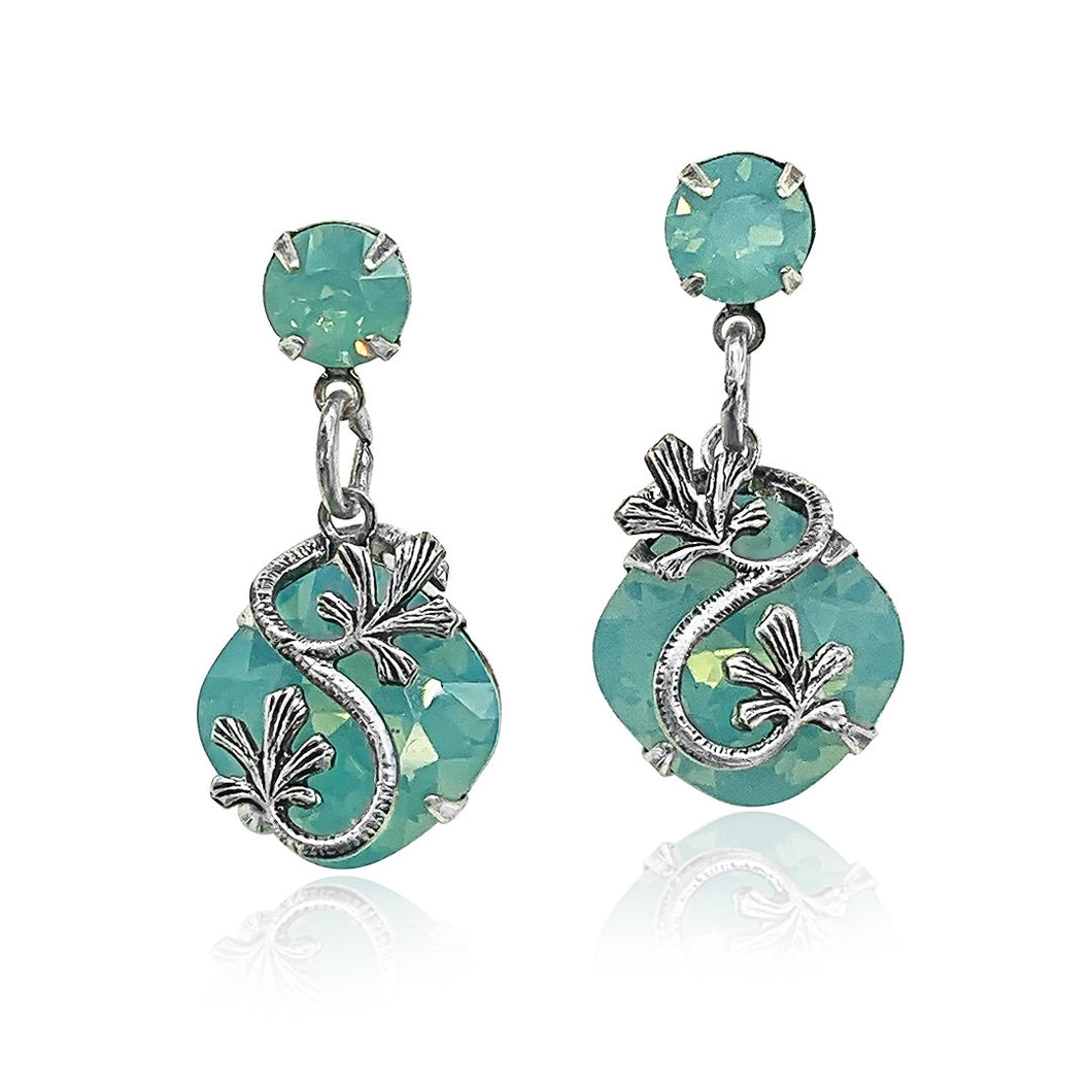 Garden Party right and left vine earrings in Pacific Opal-ER-9421-PO