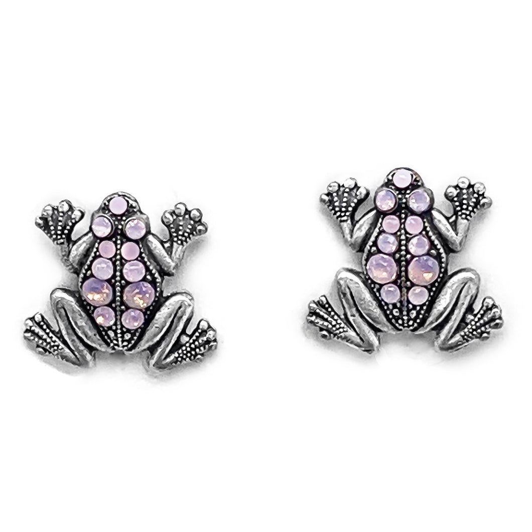 Frog studs in pink