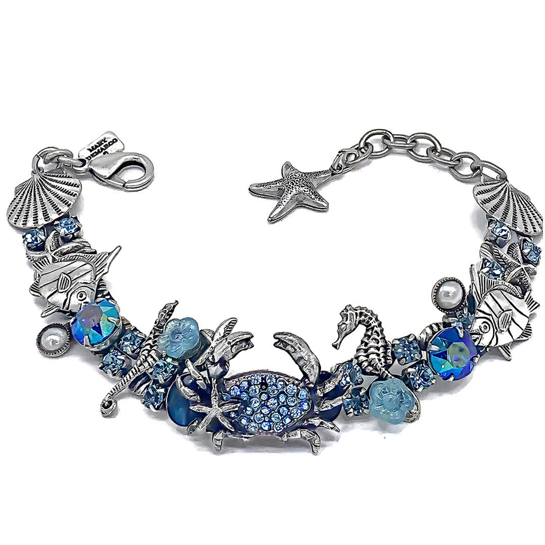 Crab bracelet in blue