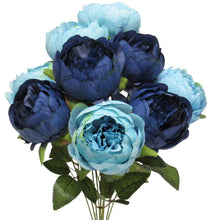 Load image into Gallery viewer, Two Tone Peony Blue Bouquet