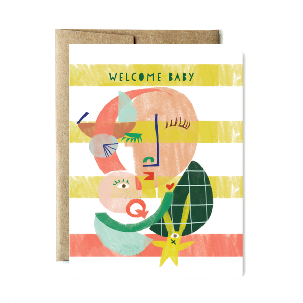 Welcome Home Baby Abstract Card - Stella and Bobbie