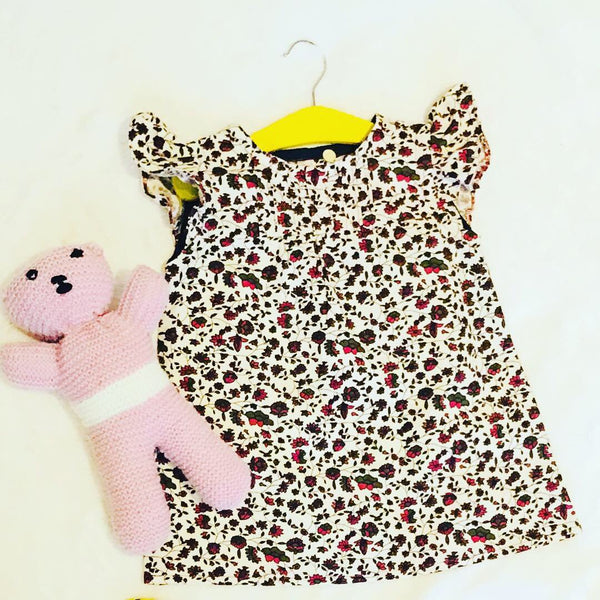 Printed cord Pinafore dress