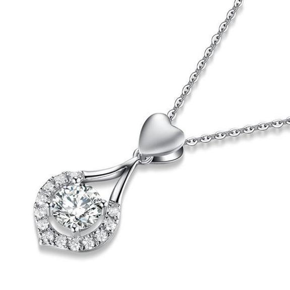 Twinkling Heart Waterdrop Stone Necklace