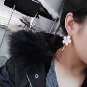 White Flower Earrings