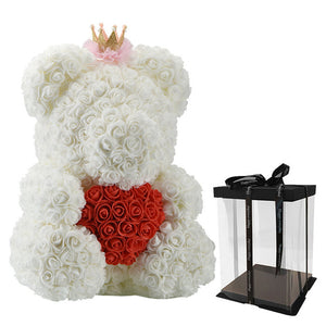 Luxury Faux Roses Teddy Bear