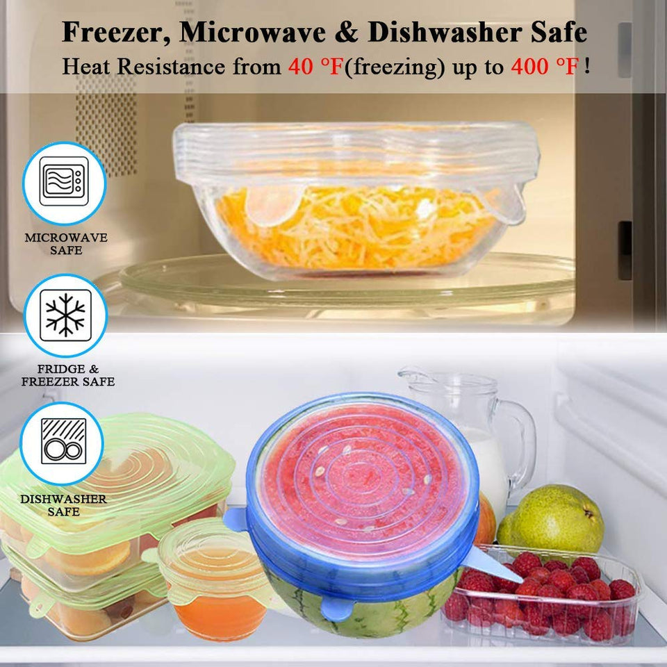 ULTIMATE FOOD PRESERVATION INSTANT LIDS - SET OF 12