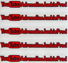 Load image into Gallery viewer, AdrenalineJunkieProd YouTube Sticker - 2 Tone - #TeamAJP Decals