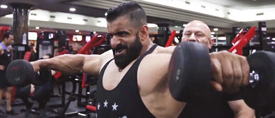 Hadi Choopan Hits FST-7 Shoulders in Dubai