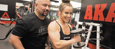 Hany & Lauren Blast FST-7 Biceps at AKA Gym
