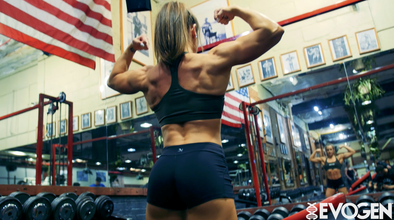 Lauren Findley Trains Biceps at Pearl Street Gym